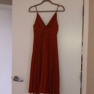 ASOS Petite burnt orange midi dress - NWT